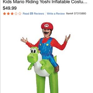 Other - Kids Mario Yoshi inflateable costume
